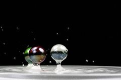 l'eau de marbres Photos stock