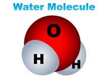 l'eau de molécule de graphisme Photos stock