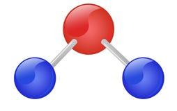 l'eau de molécule Photos libres de droits