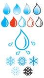l'eau de neige Images libres de droits