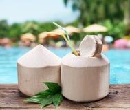 L'eau de noix de coco Photo stock