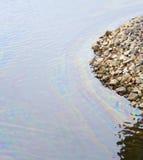 L'eau de pétrole de pollution photographie stock