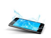 L'eau de piscine de téléphone Photos stock