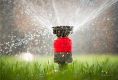 L'eau de pulvérisation de tête arroseuse Photos libres de droits
