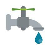 L'eau de robinet d'égoutture réutilisent écologique illustration libre de droits