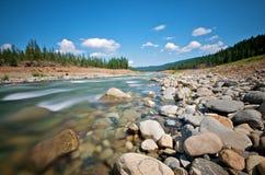 l'eau de ruisseau d'économie de la Californie Photos libres de droits