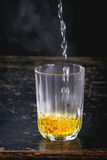 L'eau de safran Photographie stock libre de droits