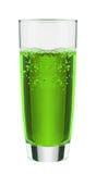 L'eau de seltz verte de petit morceau de boissons non alcoolisées de saveur de fruit Images stock