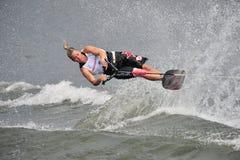 l'eau de ski de concurrence Photo stock