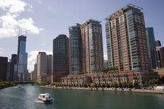 l'eau de taxi de Chicago photos libres de droits
