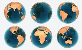 l'eau de texture de globe illustration stock