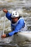 l'eau de tsakmakis de slalom de Christos de canoë image libre de droits