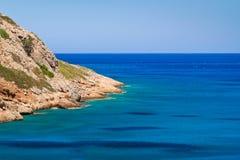 L'eau de Turquise de Crète Photo libre de droits