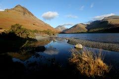 L'eau de Wast, Cumbria, en hiver Images stock