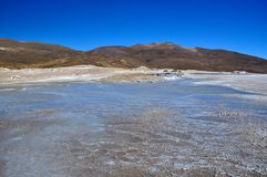 L'eau du Geysir Puchuldiza Photographie stock