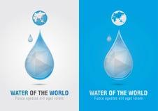 L'eau du symbole de signe d'icône du monde Vente créative Images libres de droits