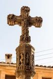 l'eau en pierre sacrée transversale du monastère s d'homme de fontaine d'écoulements d'ouvertures Images libres de droits