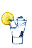 l'eau en verre Photos stock