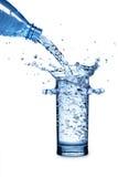 l'eau en verre photographie stock