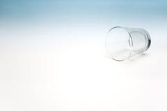 l'eau en verre vide Image libre de droits