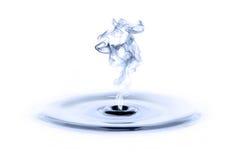 L'eau et fumée images stock