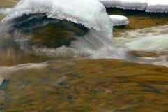 L'eau et glace se précipitantes images stock