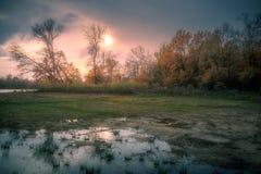 L'eau et le soleil Photographie stock