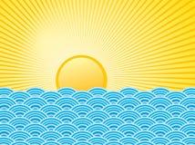 L'eau et le soleil Photos libres de droits