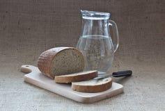 L'eau et pain photos stock