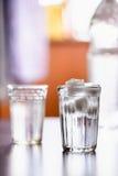 L'eau glacée Images libres de droits