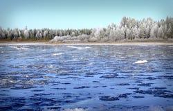 L'eau glaciale Photos stock