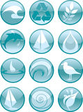 L'eau Icons_Round illustration de vecteur