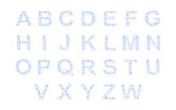 L'eau laisse tomber l'alphabet illustration stock