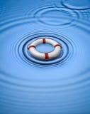 l'eau lifebuoy de boucle de conservateur Photos libres de droits