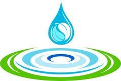 L'eau ondule le logo illustration de vecteur