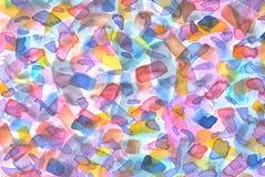 l'eau peinte à la main de couleur Photos libres de droits