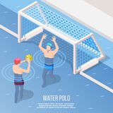 L'eau Polo Isometric Background Photo libre de droits
