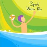L'eau Polo Player Game Sport Competition illustration de vecteur