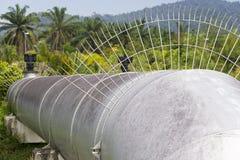 l'eau publique d'offre de pipe photographie stock