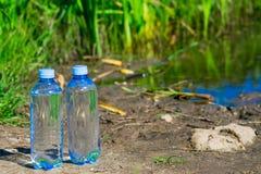 L'eau pure seulement mis en bouteille Photo stock
