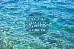 L'eau réaliste illustration stock