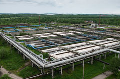L'eau réutilisant dans la gare biologique photo libre de droits