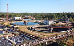 L'eau réutilisant la gare d'eaux d'égout photographie stock