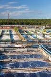 L'eau réutilisant la gare d'eaux d'égout photo libre de droits
