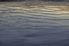 L'eau reflétée au coucher du soleil Photographie stock libre de droits