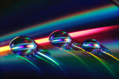 L'eau relâche l'instruction-macro Image libre de droits