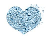 L'eau relâche le coeur Image libre de droits