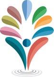 L'eau relâche le logo Image stock