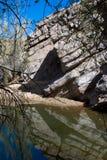 L'eau remplissant gorge de l'Arizona Photographie stock libre de droits