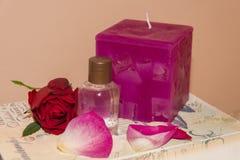 L'eau rose parfumée Image stock